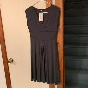 Gray Cotton Skater Dress